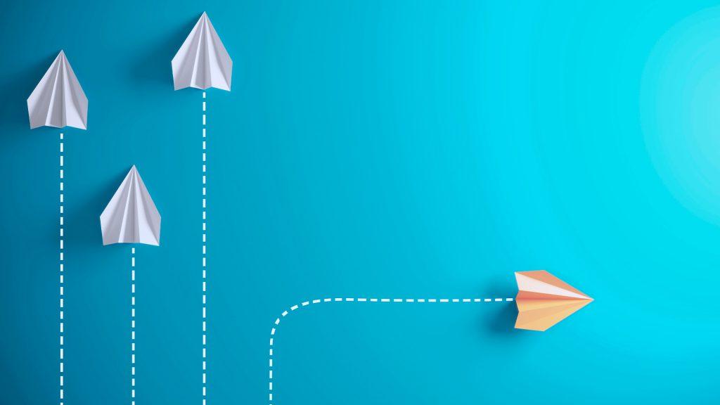 imagem de aviões de papel representando dez lições