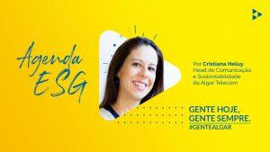 imagem com a foto da Cristina Heluy que representa uma solução de agenda esg